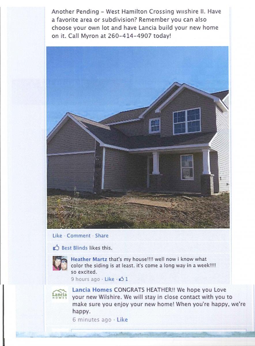 Testimonials | Lancia Homes